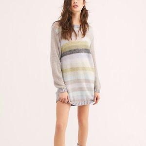 Free People Bright It Up Sweater Jumper Mini Dress